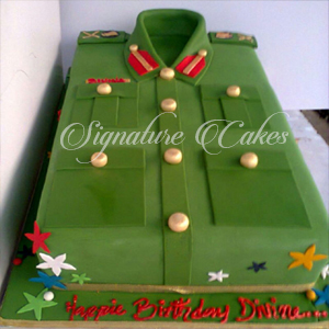 Military Uniform Birthday Cake Signature Cakes